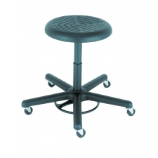 Cramer Rhino Foot Activated Round Stool w/ Urethane Seat - Seat Height Options Up to 28""