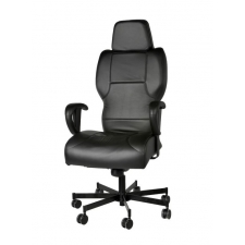 Concept Seating 3142 High Back 24/7 Chair 550 lbs. Rating w/ Cut Away Back *Black Fabric, Vinyl or Leather Ships in 5-7 Days*