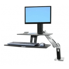 Ergotron WorkFit-A Desktop Height Adjustable Workstation Suspended Keyboard Tray
