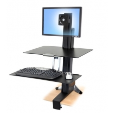 Ergotron WorkFit-S Adjustable Height Desktop Workstation Single Monitor