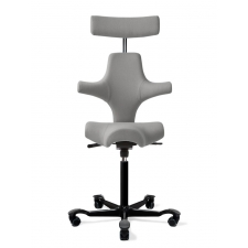 HÅG Capisco 8107 Saddle Seat Stool w/ Back Support And Headrest