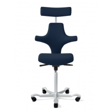 HÅG Capisco 8127 Flat Seat Stool w/ Back Support And Headrest