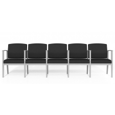 Lesro Amherst Steel Series Five Seat Sofa with Center Arms