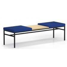 Lesro Avon Series 2 Seat Bench With Center Table Upholstered Seat