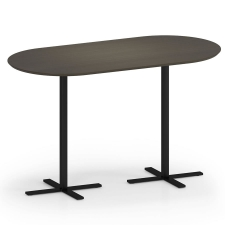 "Lesro Avon Series 36"" x 72"" Oval Bar Height Café Table"