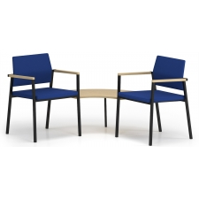 Lesro Avon Series 2 Chairs With Connecting Corner Table Fully Upholstered