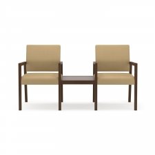 Lesro Brooklyn 2 Chairs w/ Connecting Center Table