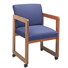 Lesro Classic Full Back Series Guest Chair w/ Casters
