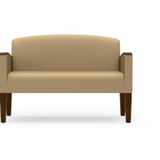 Lesro Belmont Series Loveseat With Exposed Leg Design