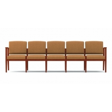 Lesro Amherst Series 5 Seat Reception Sofa Without Center Arms