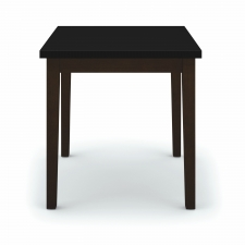 Lesro Lenox Series End Table Black Melamine Top