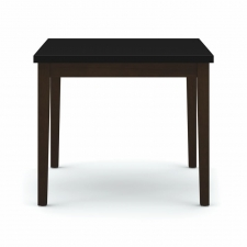 Lesro Lenox Series Corner Table Black Melamine Top