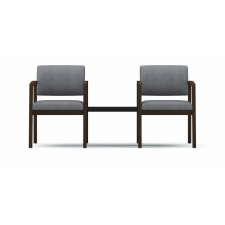 Lesro Lenox Series 2 Seat Reception Chairs w/ Black Melamine Connecting Table