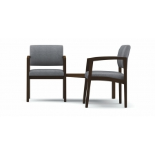 Lesro Lenox Series 2 Guest Reception Chairs w/ Corner Table