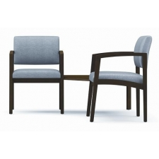 Lesro Lenox Series 2 Guest Reception Chairs w/ Connecting Corner Table