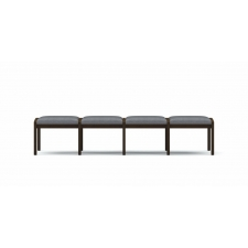 Lesro Lenox Series 4 Seat Reception Bench w/ Five Step Rub Finish