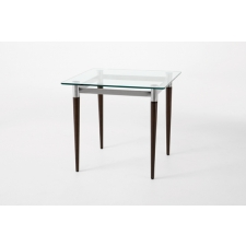 Lesro Siena Series Glass Top End Table
