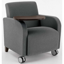 Lesro Siena Series Guest Chair With Swivel Table And Casters