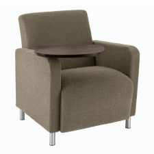 Lesro Ravenna Series Guest Chair With Swivel Tablet