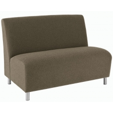 Lesro Ravenna Series Armless Loveseat With Optional Steel or Wood Legs