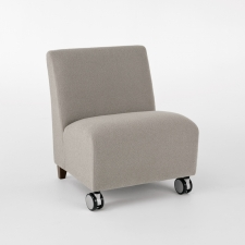 Lesro Siena Series Bariatric Armless Guest Chair w/ Casters -  500 lb. Weight Capacity