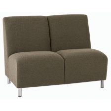 Lesro Ravenna Series Armless Two Seat Sofa With Optional Steel or Wood Legs