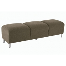 Lesro Ravenna Series 3 Seat Bench With Optional Steel or Wood Legs