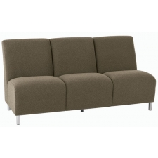 Lesro Ravenna Series Armless Three Seat Sofa With Optional Steel or Wood Legs