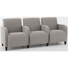 Lesro Siena Series 3 Seat Reception Sofa With Center Arms