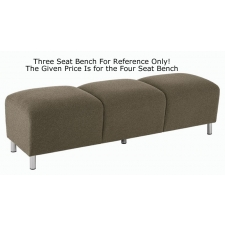 Lesro Ravenna Series 4 Seat Bench With Optional Steel or Wood Legs