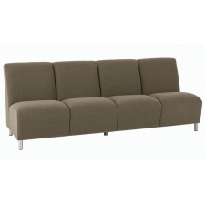 Lesro Ravenna Series Armless Four Seat Sofa With Optional Steel or Wood Legs