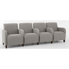 Lesro Siena Series 4 Seat Reception Sofa With Center Arms