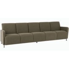Lesro Ravenna Series Five Seat Sofa With Optional Steel or Wood Legs