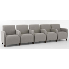Lesro Siena Series 5 Seat Reception Sofa With Center Arms