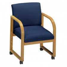 Lesro Full Back Contour Series Reception Chair w/ Casters