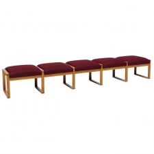 Lesro Contour Series 5 Seat Bench w/ Sled Base