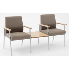 Lesro Mystic Series 2 Seat Reception Chair w/ Connecting Center Table
