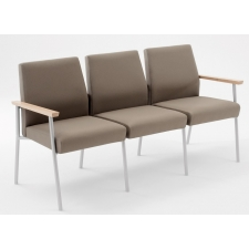 Lesro Mystic Series 3 Seat Reception Sofa With Hardwood Arm Caps