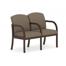 Lesro Weston Series 2 Seat Waiting Chairs w/ Center Arm