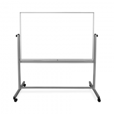 Luxor Grey Finish Double-Sided Magnetic Whiteboard Metal Frame