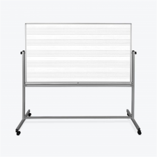 Luxor Grey Finish Mobile Double Sided Music Whiteboard Metal Frame