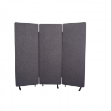 Luxor Desert Sand Finish Fabric RECLAIM Acoustic Room Dividers Metal Frame