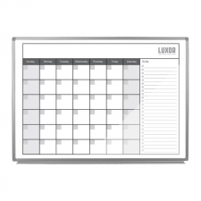 Luxor Grey Finish Magnetic Dry-Erase Monthly Calendar Metal Frame