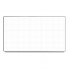 "Luxor Grey Finish 72"" X 40"" Wall-Mounted Magnetic Whiteboard Metal Frame"