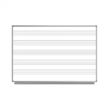 Luxor Grey Finish Wall-Mount Music Whiteboard Metal Frame