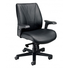 Nightingale Presider Mid Back Executive Office Chair Built-In Lumbar Support