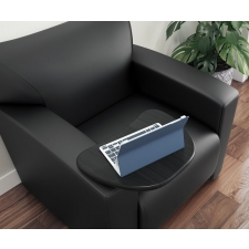 Tribeca Series Leather Soft Vinyl Club Chair with Tablet Arm