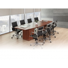 Ignot Series Boat Shaped Conference Table w/ Square Base