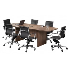 OS Laminate Series Boat Shaped Conference Table w/ Elliptical Base