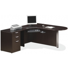 OS Laminate Series L Desk with P Shaped Return